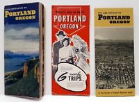 Portland Oregon Brochures and Guides Lot of 3 1940's
