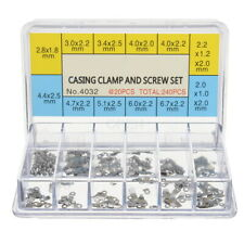 Movement Casing Clamps Set with Screws (240Pcs) fits ETA 2824 2836 2846 etc