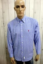 RALPH LAUREN Camicia Uomo Taglia 2XL Cotone Chemise Shirt Casual Manica Lunga
