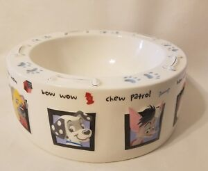 Disney Dog Characters Large Food Water Dish Bowl Porcelain Ceramic China