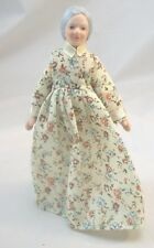 "Porcelain Doll Grand Mother / Woman dollhouse miniature  1"" scale G7675"