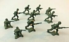 GROUP OF 10 TOY LEAD SOLDIERS -- MANOIL BARCLAY? -- WW1 -- TALLEST IS ONE INCH