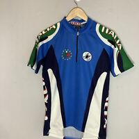 Vintage Castelli Italia Cycling Jersey Blue Mens Size Medium Rare