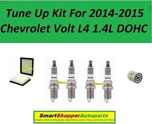 Tune Up Kit For 2014-2015 Chevrolet Volt L4 1.4L Air Filter, Oil Filter, Spark P