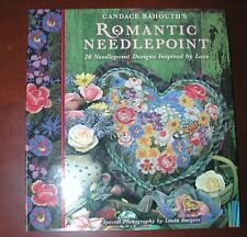ROMANTIC NEEDLEPOINT, HB/DJ, BAHOUTH'S,128 GLOSSY PAGES, 1995 Reduced