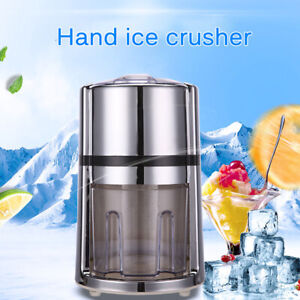Manual Ice Crusher Crank Ice Grinder with Non-slip Base Portable Ice Chopper