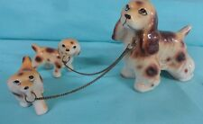 Relco  spaniels mom & pups figurines changed together  Dog  Japan vtg