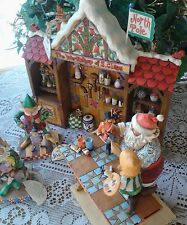 Jim Shore Heartwood Creek Santa's Workshop Collection Set of 4 Christmas 4008233