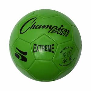 Champion Sports Extreme Soft Touch Butyl Bladder Soccer Ball, Size 5, Green