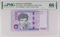 Armenia 1000 Dram 2018 P 61 a AA Gem UNC PMG 66 EPQ