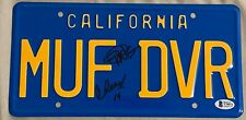 Cheech Marin & Tommy Chong Signed Autograph Muf Dvr Prop License Plate Bas Coa