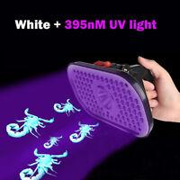 White 395nM UV Blacklight Portable Headlamp Scorpions Detector Purple Headlight