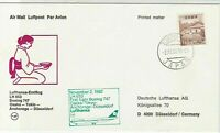 Japan 1982 Osaka-Dusseldorf LH 653 1st Flight Airmail Stamps Cover Ref 29389