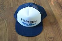 Vintage Hi-Hope Aqua Glass Trucker Cap Hat Snapback