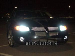 Angel Eye Fog Lamps Driving Lights Kit for 2001-2006 Dodge Stratus Sedan