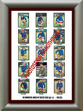 CHELSEA - 1971-72 - REPRO STICKERS A3 POSTER PRINT