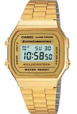 CASIO WATCH 80'S RETRO VINTAGE A168WG-9 ALARM, STOPWATCH, EL LIGHT