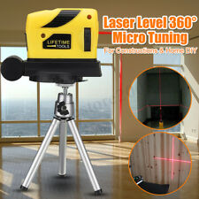 3D Laser Level Leveling Point/Line/Cross Horizontal Vertical 360° Accuracy+Stand