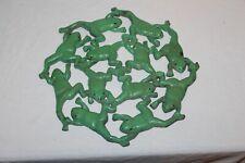 Vintage Cast Iron Frog Trivet Planter Base Multiple Frogs Farm House Decor