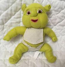"Shrek Third Plush 7"" Baby Bib Bald Triplet Green Ogre Newborn Diaper Dreamworks"