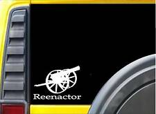 """Civil War Reenactor K533 8"""" Canon 2nd amendment sticker decal"""