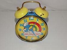 Vintage Smurfs Alarm Clock Have A Smurfy Day