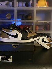 Air Jordan 1 Low Gold Toe Metallic Patent Leather Size 11 Worn 2x