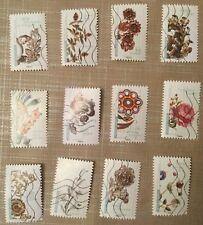 """lot complet timbres 2017 """"Fleurs et métiers d'Art"""""""