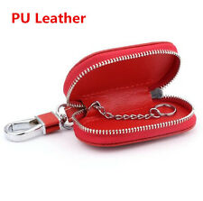 Red Universal Top Layer Leather Fashion Car Smart Remote Key Holder Bag Fob Case