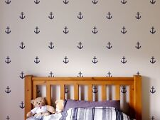 30 Wall sticker Anchor CUSTOM Silhouette deco cartoon graphic boat Sea Life