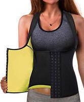 Best Neoprene Waist Trainer Corset Sweat Vest Weight Loss Body Shaper Workout US