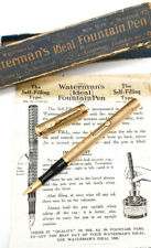 More details for antique waterman's ideal 9ct gold fountain pen: 14k gold flex nib - restored