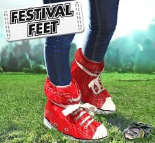 FESTIVAL FEET SHOE/TRAINER COVERS/PROTECTORS and DISPOSABLE HOODED PONCHO