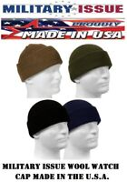 Genuine Military 100% Wool Watch Cap GSA Compliant Beanie Cap USA MADE Rothco