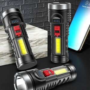Super Bright 10000000LM Torch Powerful LED Flashlight USB Rechargeable Light
