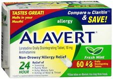 Alavert 24 Hour Orally Disintegrating Tablets Fresh Mint 60 Tablets (Pack of 3)
