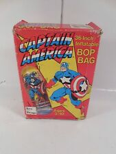 "UNUSED MARVEL COMICS CAPTAIN AMERICA 36"" INFLATABLE BOP BAG W/ORIGINAL BOX 1990"