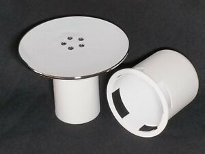 Replacement 115mm Chrome Shower tray drain-waste cover (Optional white parts).