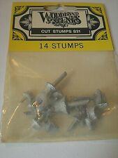 Woodland Scenics S31 Cut Stumps Package of 14 Unfinished Metal Stumps Nip