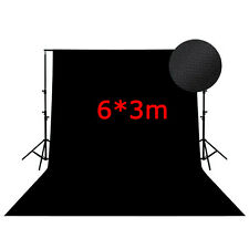 BD36B 6m*3m Photography Studio black backdrop background 600cm*300cm Backdrops