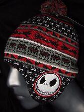 The Nightmare Before Christmas Jack Skellington Laplander Beanie Hat Cap Disney