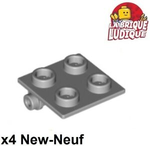 Lego 4x Charnière hinge brique brick 2x2 top gris/light bluish gray 6134 NEUF