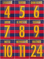 Barcelona 2015-16 home Name Set  Player Issue Match Avery Messi