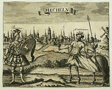BELGIEN - MECHELN / MECHELEN - Gesamtansicht - Faßmann - Kupferstich 1725