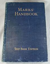 Mechanical Engineers Handbook Marks Handbook 1951 Textbook Edition Fifth Edition