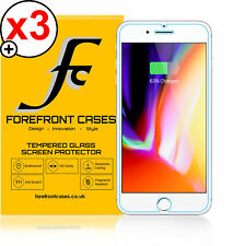 Forefront Cases® Apple iPhone 8 9H HD Tempered Glass Screen Protector Guard X 3