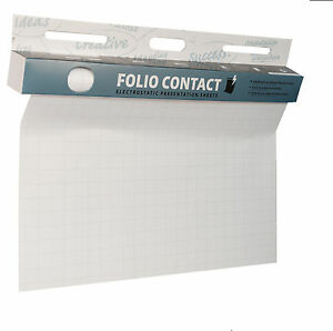 DAS ORIGINAL! Folio Contact,  kariert 60x80cm 25 Blatt elektrostatisch haftend