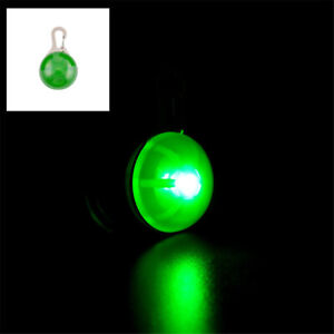 Pet Puppy Dog Cat LED Flashing Collar Tag Clip Buckle Night Light Safety Pendant