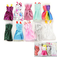 10Pcs Handmade Fashion Dresses Clothes Party Outfit For Barbie Doll Toy Kid Gift