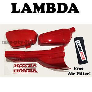 Honda CT110 12v Plastics Kit - Air Box Battery Cover Cowling Down Tube